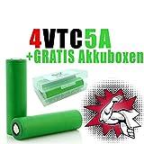 NEMT 4 x VTC5A Akku 18660 Akkus Accu batterien (2600mAh/3,7V/35A/Li-Ion)