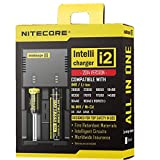 NiteCore NC i2 Version 2014 Intellicharge Akku Ladestation für Li-Ion/Ni-Mh/Ni-Cd (Output Current: 2x 500mA)