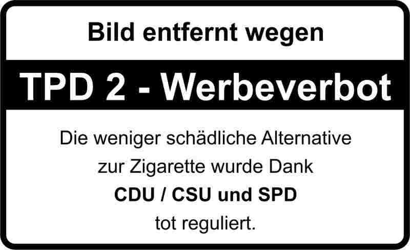 Werbeverbot für die E-Zigarette dank CDU/CSU und SPD