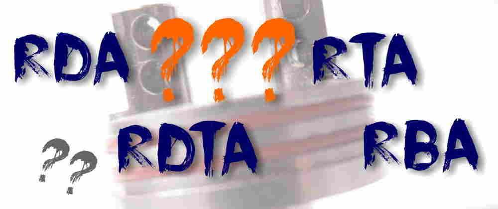 Was bedeutet RTA, RBA, RDA und RDTA?