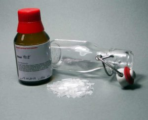 glas, Ethanol, Mentholkristalle