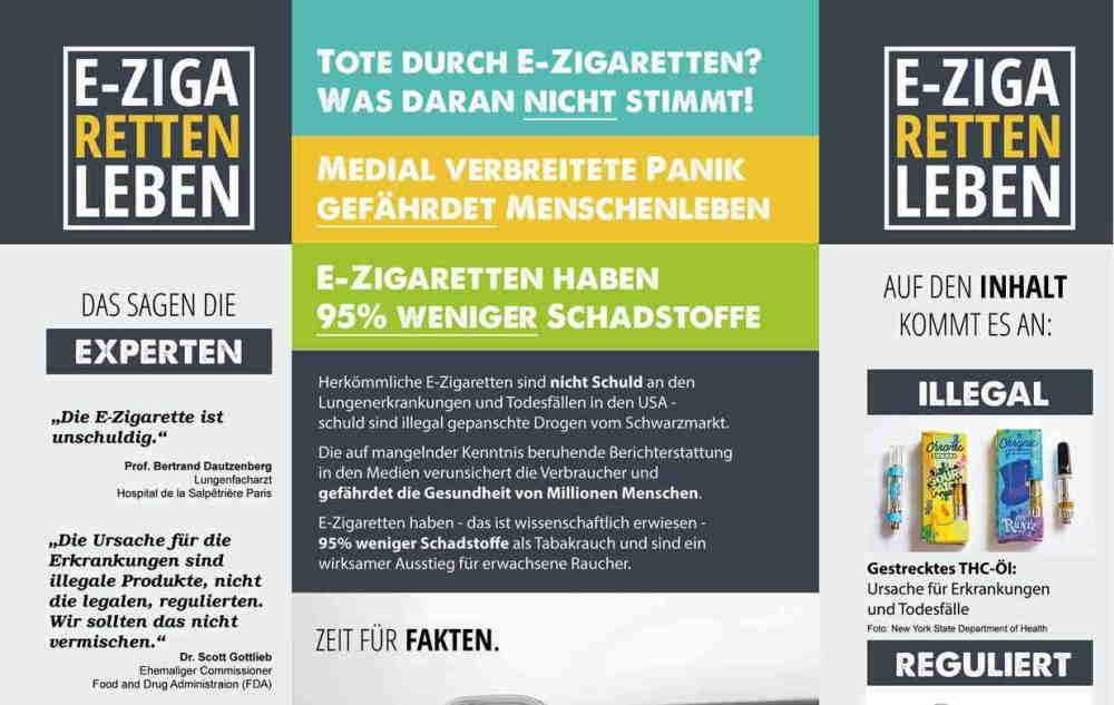 flyer e-zigaretten retten leben